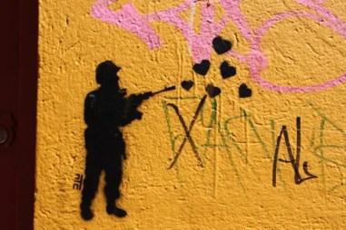 Soldier of love Bogota graffiti