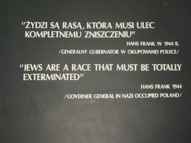 Quote over het uitroeien van Joden in Auschwitz