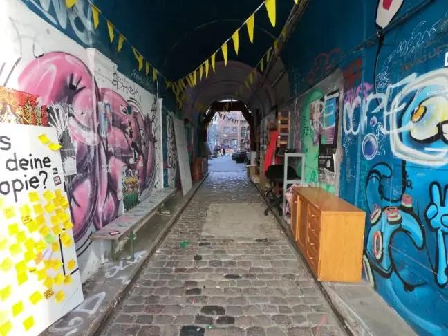 Ingang Gängeviertel in Hamburg