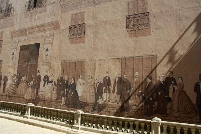 calle mercaderes muurschildering