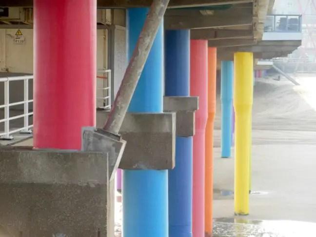 De Pier gekleurde pilaren Volvo Ocean Race