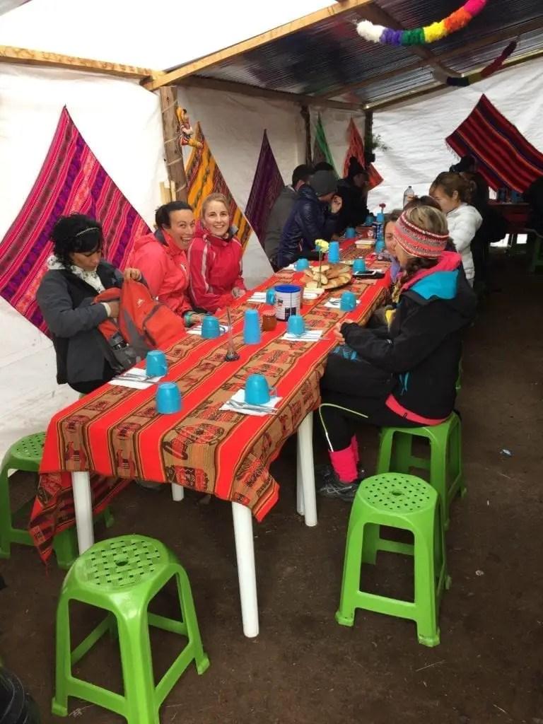 Ontbijten in de bergen