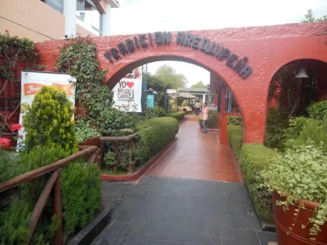 Entree restaurant Tradición Arequipeña