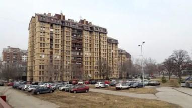 Bebouwing net buiten het centrum van Niš