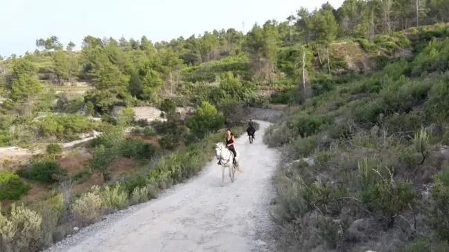 Paardrijden in het Noorden van Ibiza.