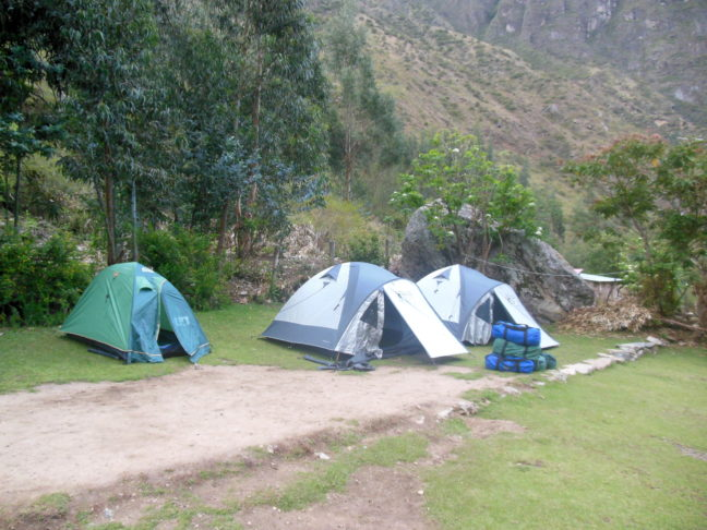 Je slaapt middenin de natuur in tenten.
