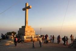 Verzamelen voor zonsondergang op Mt. Srd.