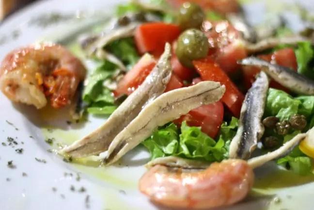 Verse salade, verse vis: heerlijk!