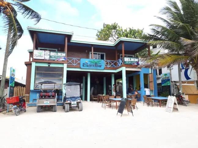 Sandbar's Hostel in San Pedro.