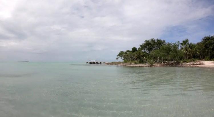 Secret Beach op Ambergris Caye.