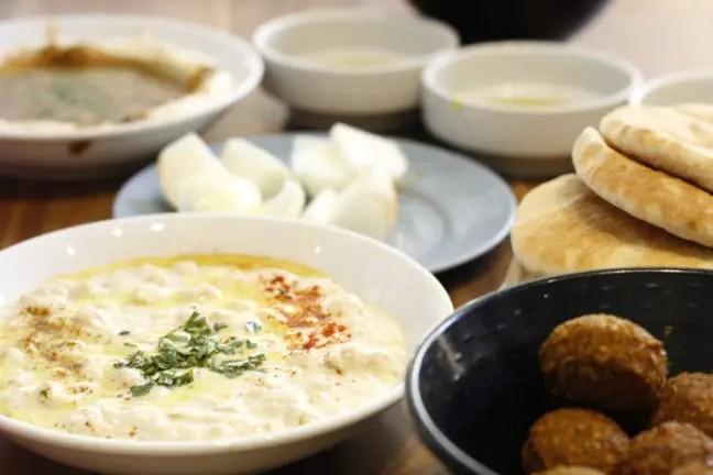 Hummus in Tel Aviv.