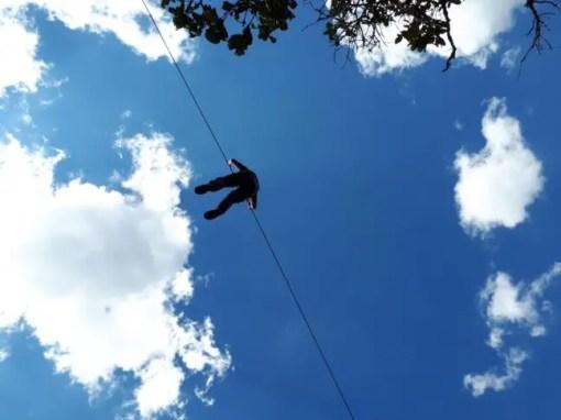 Ziplinen in Arcotete.
