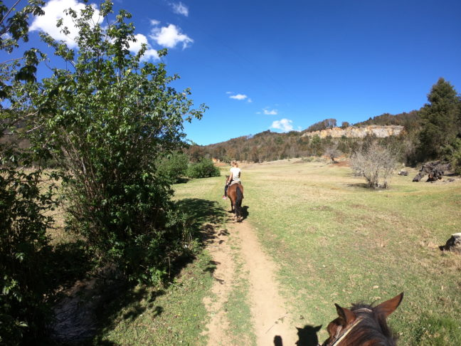 Paardrijden naar San Juan Chamula.