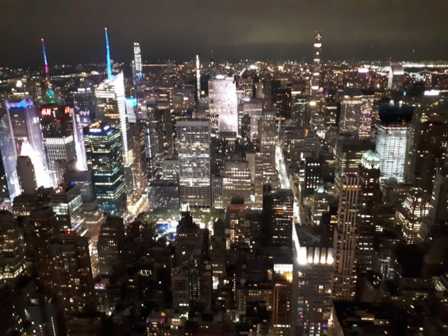 New York by night, vanaf het Empire State Building