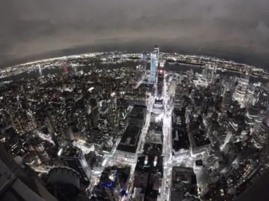 Uitzicht over New York 's avonds.