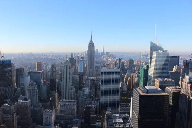 Empire State Building gezien vanaf Top of the Rock