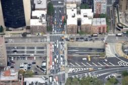 Verkeer in New York, bovenaanzicht