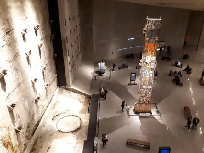 In het 9/11 Museum in New York.
