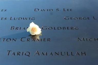 Verjaardagsroos bij het 9/11 Memorial