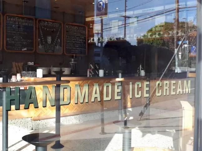 Al het ijs wordt hier vers gemaakt.