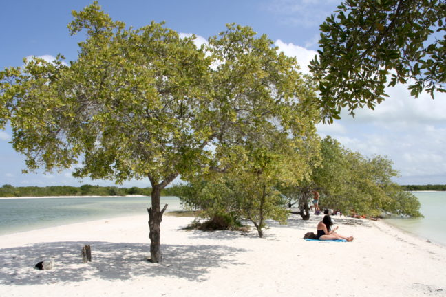 Punta Cocos is relatief rustig.