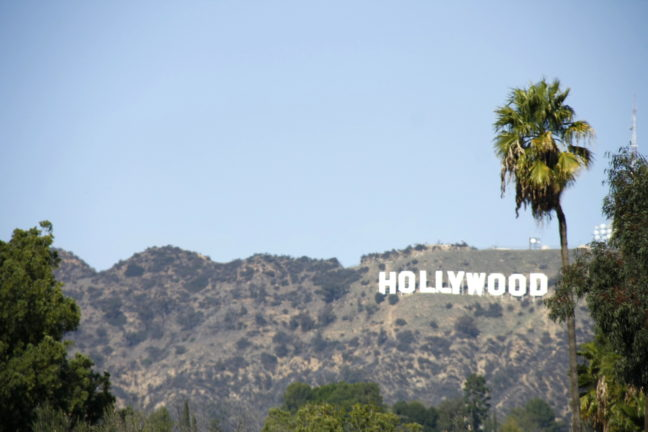 Hollywood sign in de Hollywood Hills