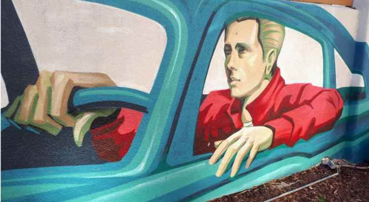 Street art: James Dean in Hollywood