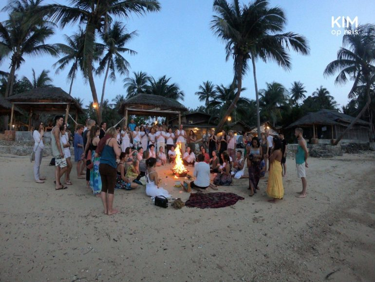 Fire Puja op Koh Phangan