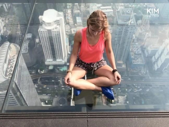 MahaNakhon Glass Skywalk met hoogtevrees: geen goed idee.