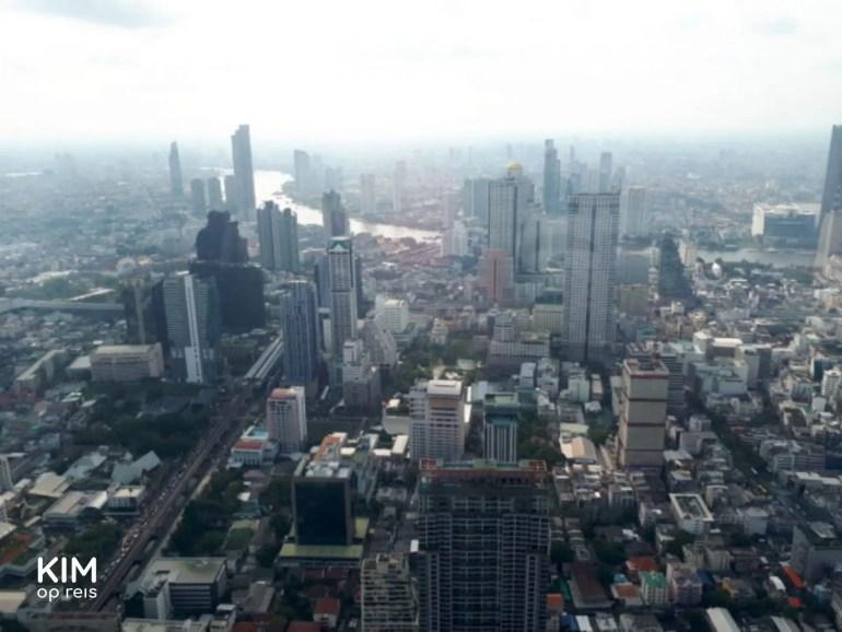 Uitzicht over Bangkok vanaf MahaNakhon Tower