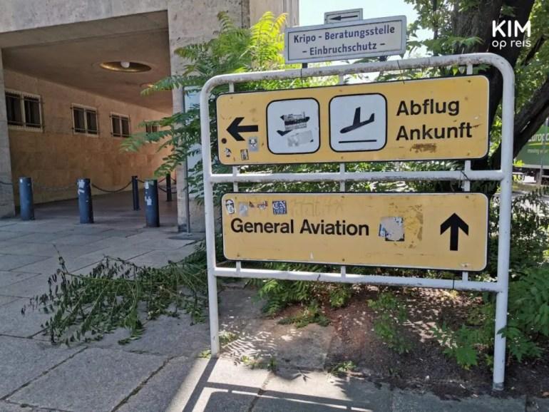 Tempelhof Berlijn entreebord