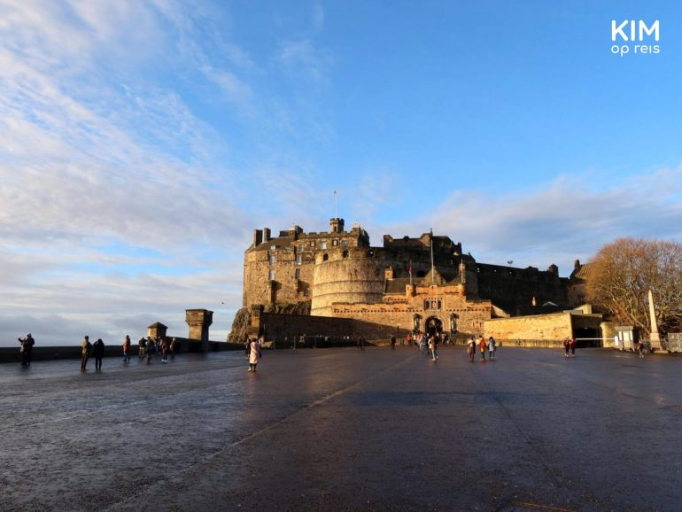 Edinburgh Castle vroeg op de dag