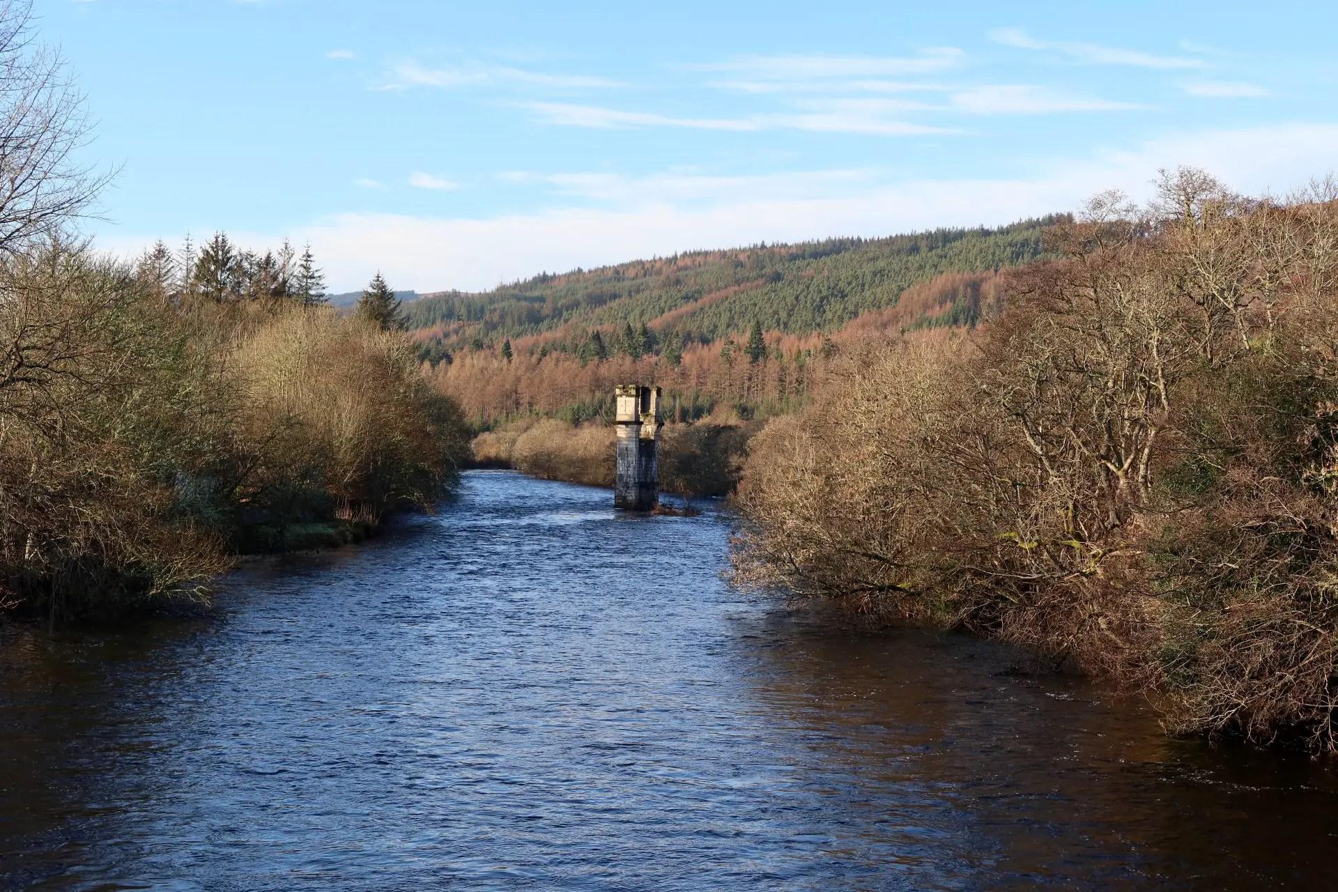 Rivier bij Fort Augustus, aan The Great Glen Way