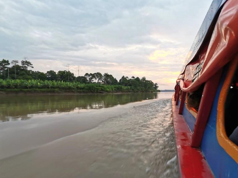 Snelle boot van Yurimaguas naar Iquitos