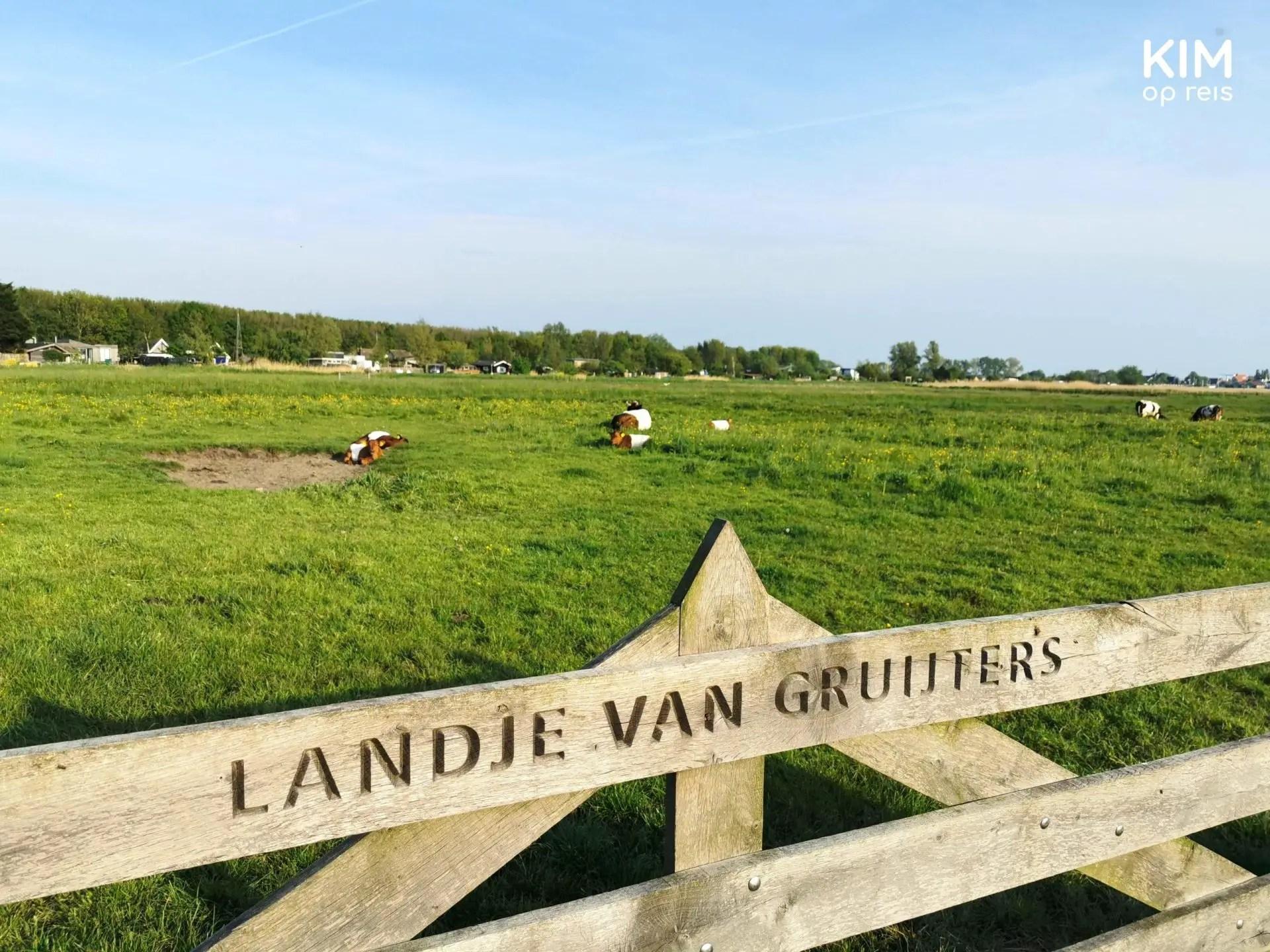 Fortress route Spaarndam Amsterdam walking Landje van Gruijters