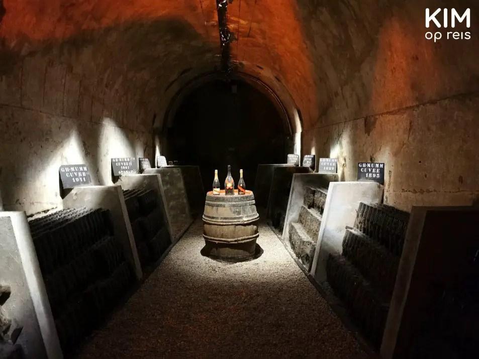 Historische collectie mumm champagne