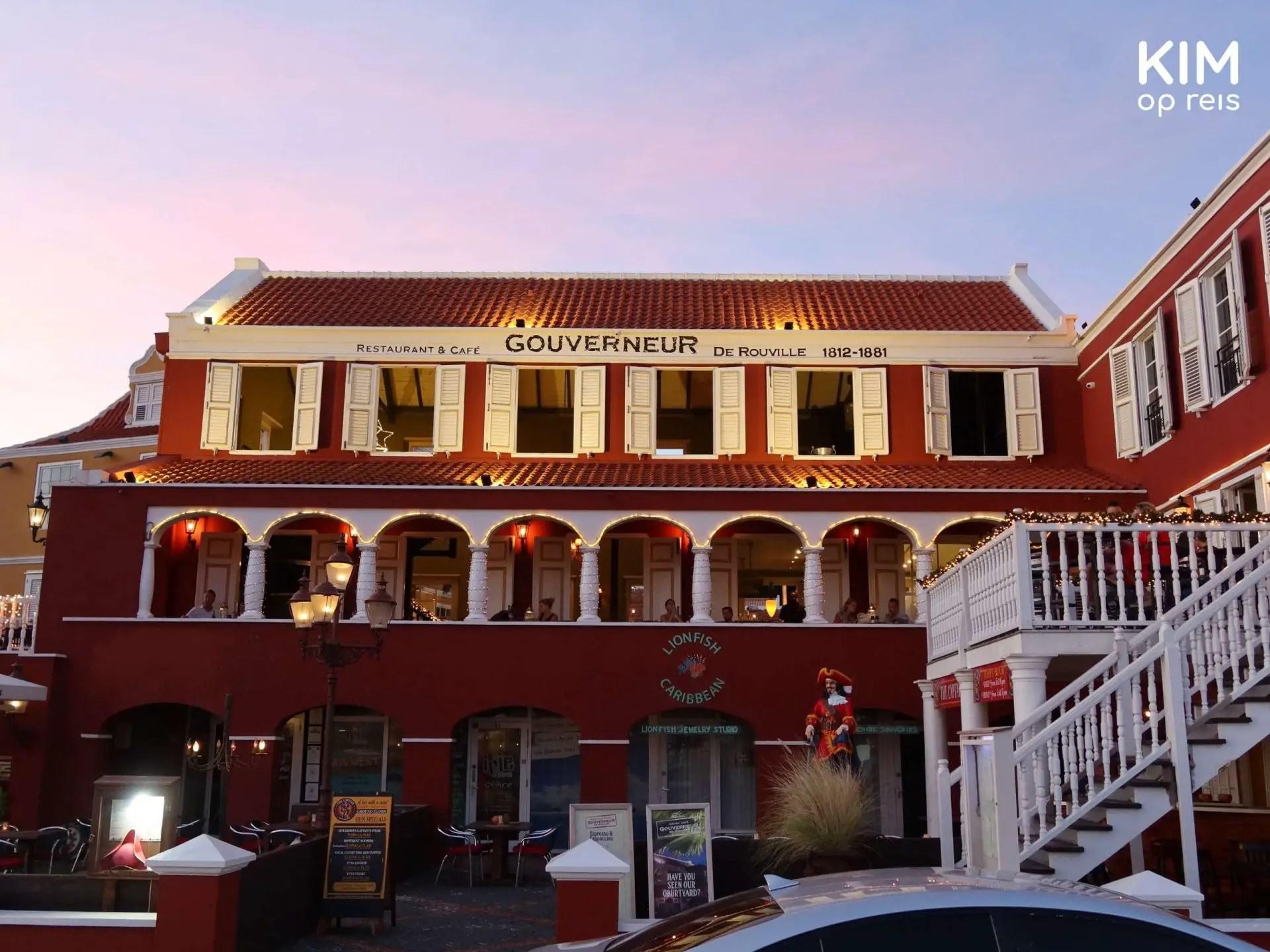 Restaurant de Gouverneur de Rouville Curaçao: building seen from the street side
