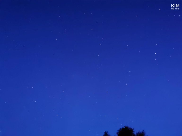 Stargazing Trentino Observatory - blue sky with white dots (stars)