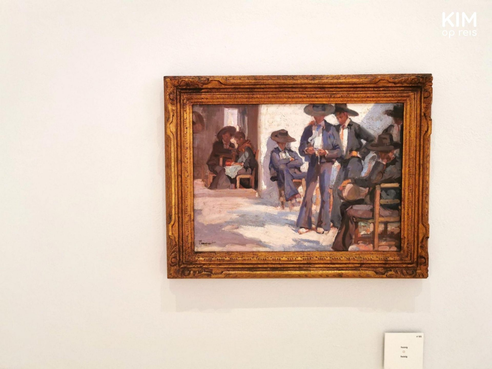 Art in Museum Puget - painting of some men dressed in dark suits and a hat