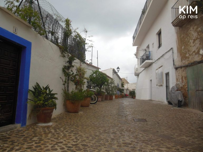 Wet streets in Ibiza town. Rain sucks.