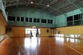 つなぎ手の受入前に、神舞の練習のリハーサルを、岸良小学校体育館で行いました。