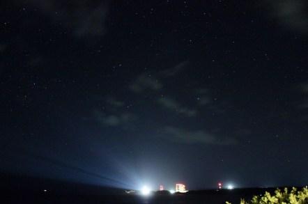 夜も美しい射場