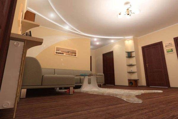 Фото ремонта гостиных комнат - Индивидуальный дизайн интерьера