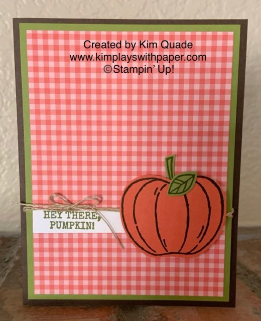 Stampin' Up! Harvest Hellos