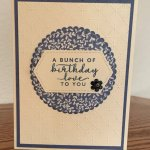 Boho Indigo Birthday Card Samples
