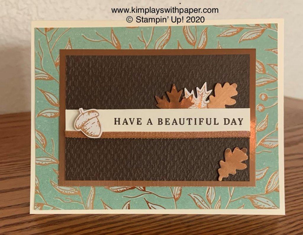 Gilded Autumn Suite Card Sample