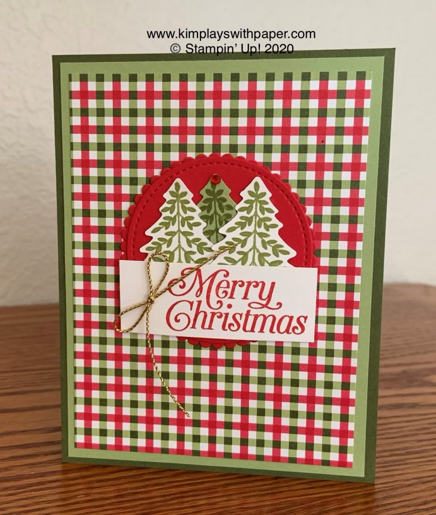 Christmas Card with Perfectly Plaid