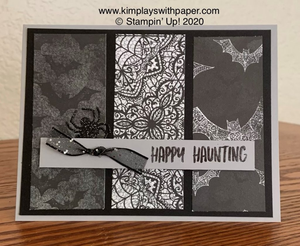 Using Designer Series Paper Halloween
