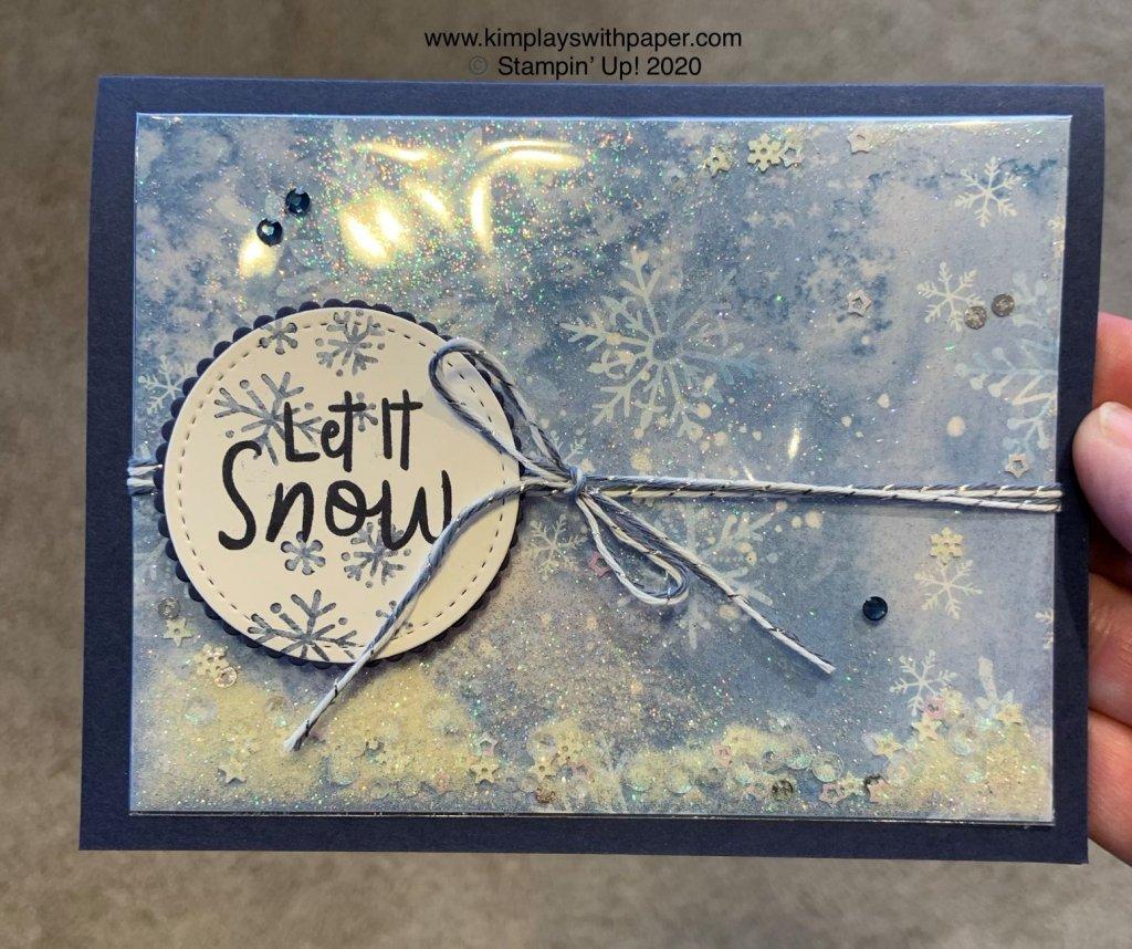 Snowflake Splendor Shaker Card
