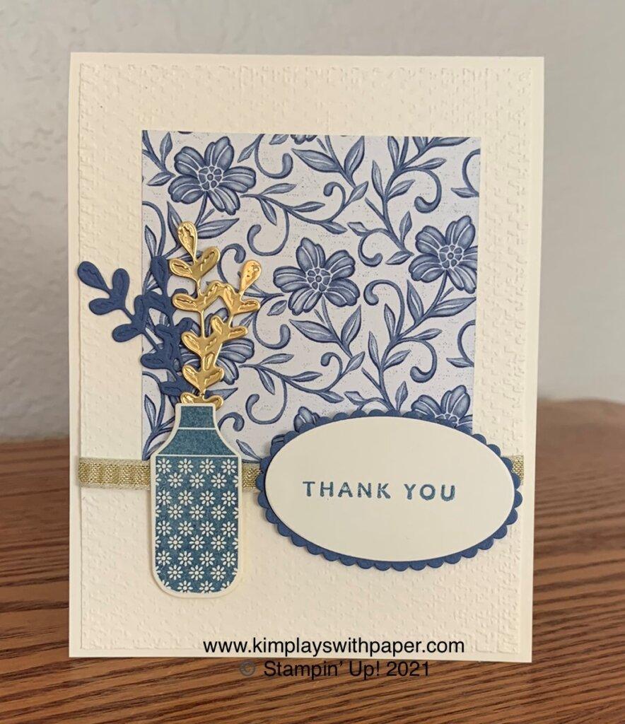 Boho Indigo Thank You Card